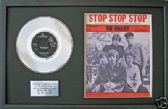 "HOLLIES - 7"" Platinum Disc & songsheet - STOP STOP STOP"